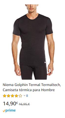 camiseta corta termal hombre