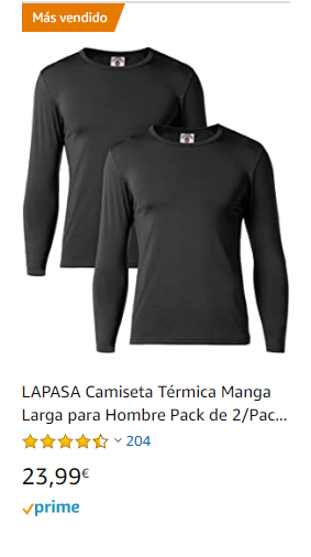 camiseta terminca interior larga