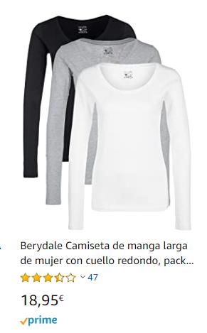 camiseta interior mujer termica