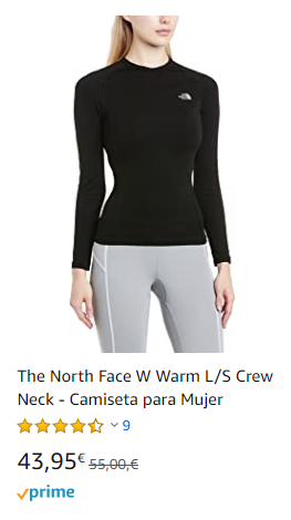 camiseta interior térmica mujer