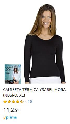 camiseta mujer termica